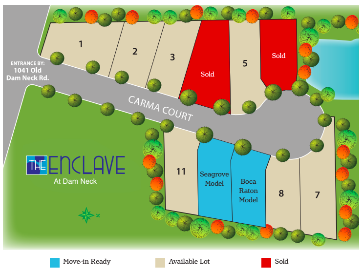 Site Plan for Enclave at Dam Neck
