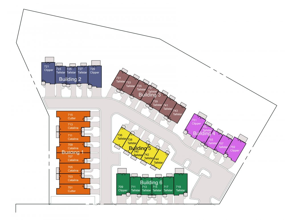 Site Plan for Mainsail, South Hall Landing on the Bay