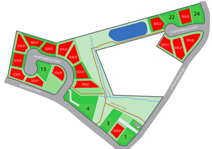 Site Plan for Ashby's Bridge